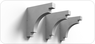 Corbels the finishing touch decorative architectural for Finishing touch mouldings